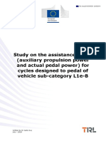 Final report - Study on the assistance factor for cycles of sub-category L1e-B
