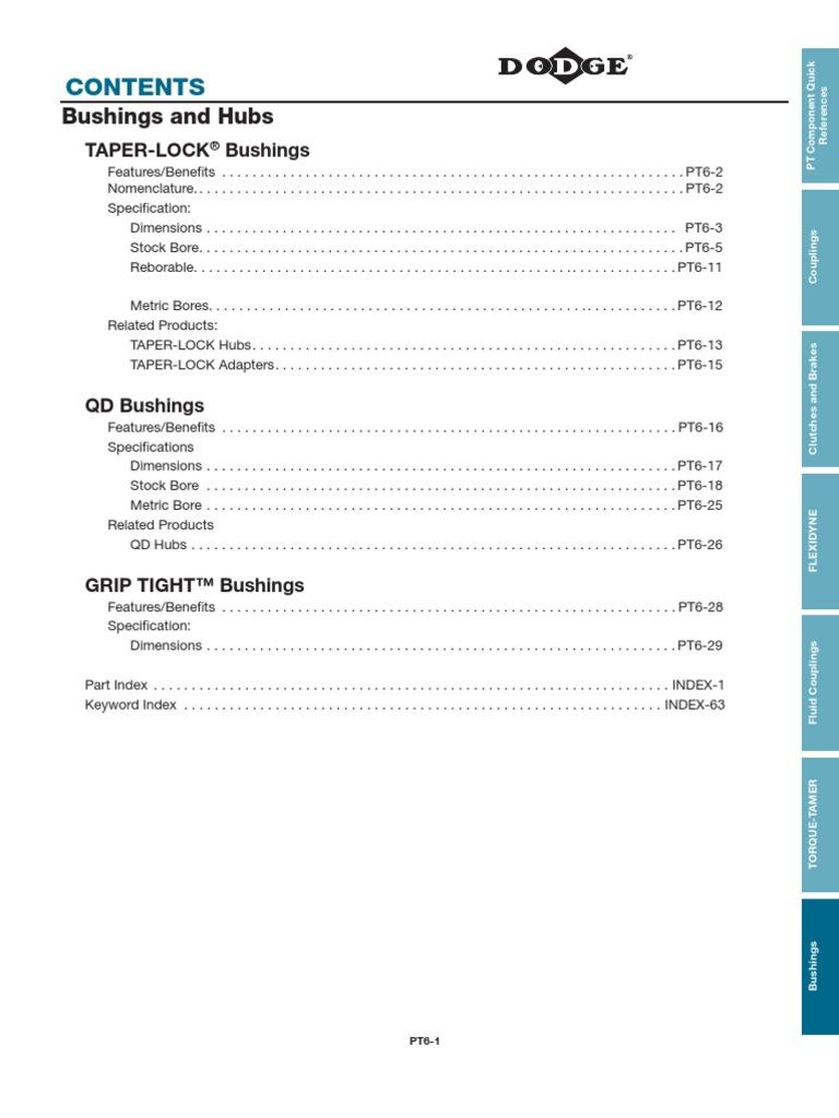 DODGE 1108 X 22MM-KW BUSHING 119580