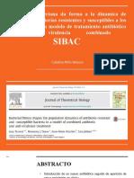 La aptitud bacteriana da forma a la dinamica de poblacion de bacterias resistentes y susceptibles a los antibióticos en un modelo de tratamiento antibiótico y anti virulencia combinado.pptx