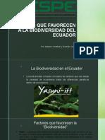 FACTORES QUE FAVORECEN A LA BIODIVERSIDAD DEL ECUADOR