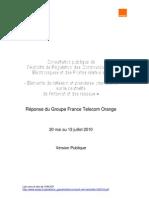 Orange -  Réponse neutralité des réseaux (2010)