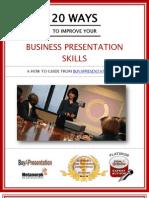 eBook 20 Ways to Improve Business Presentation Skills