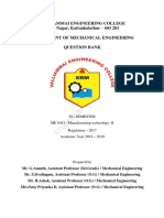 ME8451-Manufacturing Technology-II