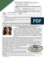 GUÍA evaluada 1 3BC  UNIDAD 3 lenguaje