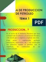 TEMA 1 SISTEMA DE PRODUCCION DE PETROLEO