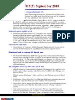 Current Affairs for IAS Exam 2011 Economy Affairs September 2010 Www.upscportal