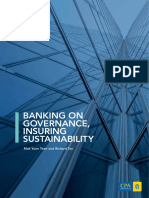 BANKING ON GOVERNANCE, INSURING SUSTAINABILITY