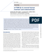Role of TGF-Bs in Normal Human um and En Dome Trios Is