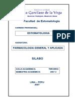 III SILABO FARMACOLOGIA GRAL APLICADA