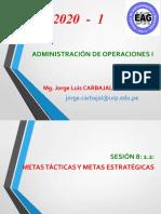 SESIÓN 8 2.2 Metas Estratégicas y Metas Tácticas