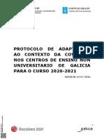 Protocolo Covid Inicio Do Curso 20-21