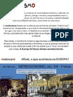 Apresentação MODERNISMO BRASILEIRO