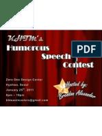 Humorous Speech Contest Flier