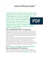 Cuál es el método de PPP para enseñar inglés