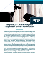 Integrating--Counterintelligence in Israel Security Concept