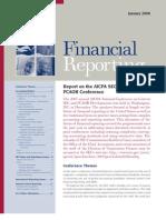 Financial Reporting Jan 08