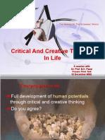 Critical Creativity