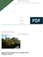 Agricultura Urbana_ ¿La ciudad como área de cultivo_