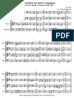 J.S. Bach—Herzlich Tut Mich Verlangen for Brass Choir