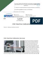 CNC Machine Tool Calibration