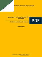 Historia y Antropología en el Perú (1980-1998)