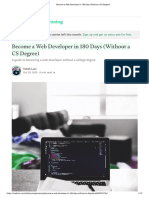 Become a Web Developer in 180 Days (Without a CS Degree)