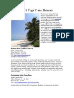 2011 Yoga Travel Retreats