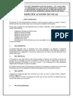 2.- Especificaciones Tecnicas