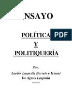 Política y Politiquería