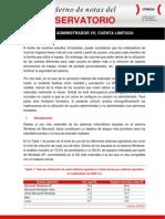 Cuenta Administrador vs Cuenta Limitada