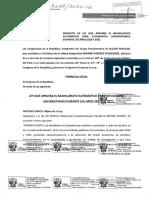 Proyecto de Ley Bachillerato automático