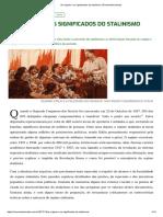 As origens e os significados do stalinismo _ Revista Movimento