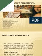 1 La Filosofía Renacentista