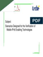 escenarios diseñados para la Verificación de Mobile IPv6 Habilitar Tecnologías