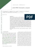 Transit spectroscopy with JWST Systematics, starspots