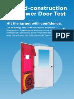 Blower Door Testing Incentive Program