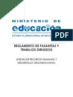 REGLAMENTO DE PASANTÍAS Y TRABAJOS DIRIGIDOS RM