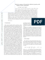 Frequency dependent dielectric response of ferroelectric-dielectric junction with negative electric capacitance
