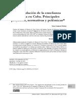 La regulación de la enseñanza privada en Cuba. Principales proyectos, normativas y polémicas*