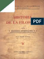 Historia de La Filosofía P. Dionisio Domínguez S.J.