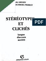 Stéréotypes et clichés - Ruth Amossy, Anne HERSCHBERG PIERROT (R)