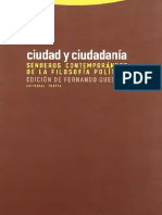 Quesada, Fernando  Ed. -Ciudad Y Ciudadania.Senderos contempáneos  de la filosofia politica