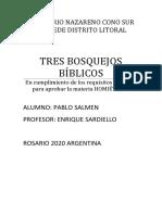 Tres Bosquejos Bíblicos
