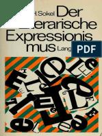Sokel, H. Walter. Der literarische Expressionismus. Der Expressionismus in der deutschen Literatur des zwanzigsten Jahrhunderts l
