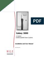 MANUAL USUARIO UPS GALAXY 3000