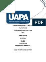 TRABAJO FINAL PSICOLOGIA EDUCATIVA 1
