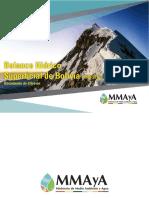 Balance hídrico de Bolivia Actualizado a 2017