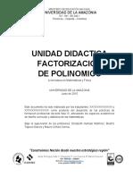 UNIDAD DIDACTICA FACTORIZACION
