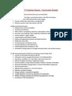 Dot Net Training Curriculum 2010