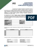 HSE-F0800-COL (3) Cuestionario epidemiológico a empleados y visitantes. Revisado 12-05-2020